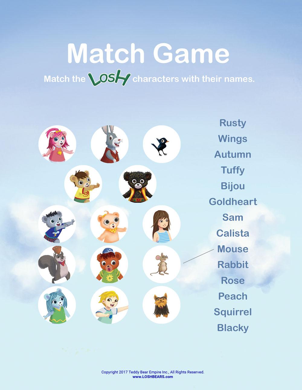Losh match game